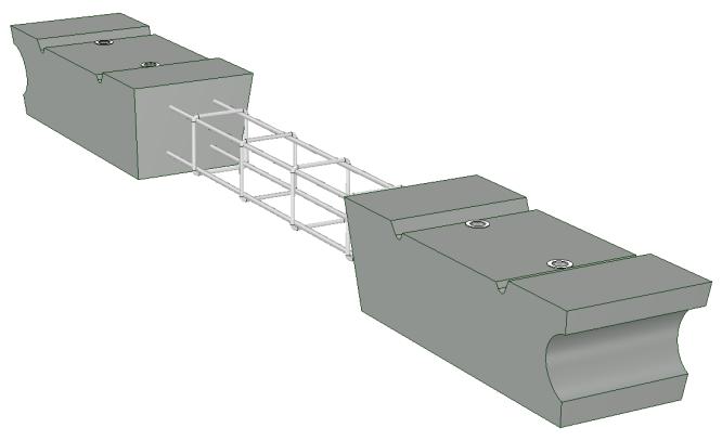 Duo-buigstaal-bloc asfalt/beton