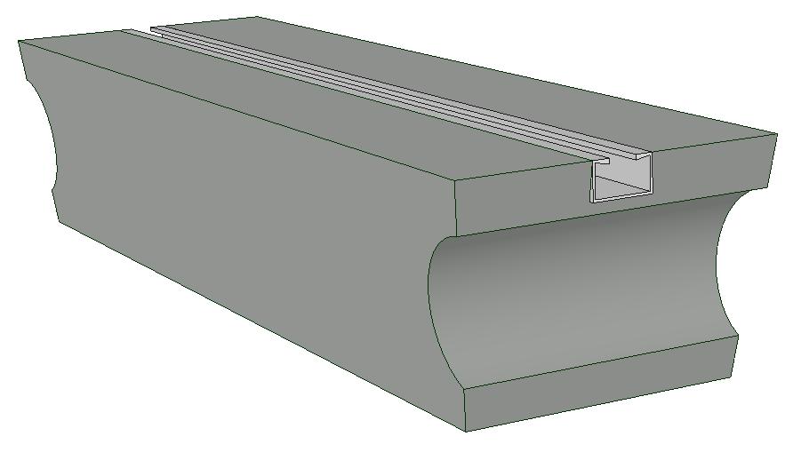 Soloblok wissel/tongstuk beton